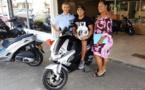 Halte à la prise de risques : John Terai gagne le scooter