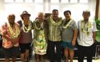 Visite de courtoisie du To'ohitu de l'Académie Tahitienne – Fare Vāna'a