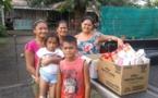 Papara : distribution de denrées alimentaires pour une vingtaine de familles