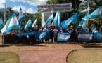 Manifestation pacifique du Tāvini pour protéger nos ressources maritimes