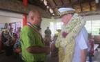 Le Tāvana hau des Australes en visite à Raivavae