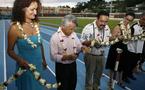 Le président Gaston Tong Sang inaugure le Stade Pater