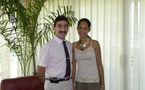 Visite de courtoisie du Capitaine Philippe Leydet à Teura Iriti