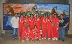 « Encouragements pour les jeunes champions de Volley-ball »