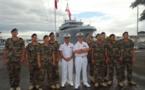 Neuf fusiliers marins formés à Tahiti