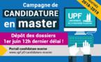 UPF : Un délai supplémentaire pour candidater en Master