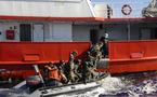 Exercice de la police des pêches au large de Papeete