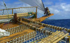 Pirogues: O tahiti Nui Freedom poursuit son périple alors que Upo'o rentre à Tahiti