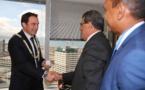 Edouard Fritch s'entretient avec trois ministres néo-zélandais