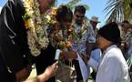 Marie-Luce Penchard retourne à Tubuai, huit mois après le cyclone Oli