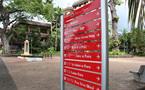 Signalétique touristique : de nouveaux panneaux à Papeete.