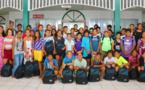 50 enfants de Paea comblés