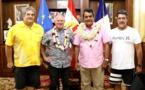 Surf à Teahupoo : Graham Stapelberg de la World Surf League reçu à la Présidence