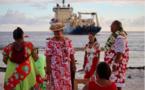 Internet: l'arrivée du câble Natitua à Fakarava en images