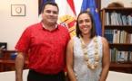 Teva Rohfritsch reçoit la Consule générale adjointe d'Australie