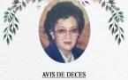 Décès de Madame LAU Eléonore