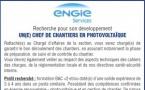 Offre d'emploi - chef de chantiers en photovoltaïque