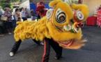 Les lions ont dansé pour l'ouverture de l'année du Cochon de terre