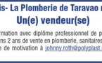 Plastibois - La Plomberie de Taravao recherche...