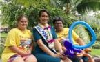 La visite surprise de Vaimalama aux enfants dans les jardins de l'assemblée