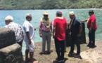 Le président Edouard Fritch à Nuku Hiva