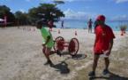 Les jeunes sapeurs-pompiers en action à Moorea