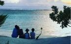 La jolie photo de famille de Jamel Debbouze à Tetiaroa