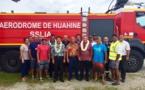 Les pompiers de l'aéroport de Huahine formés