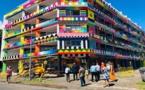 La fresque de la résidence des étudiants à Paraita terminée