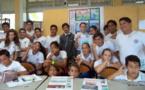 Les 6e de Tipaerui créent leur propre Une de Tahiti Infos