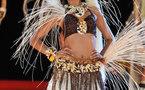 Miss Tahiti : le prix du plus beau costume décerné à Mirna Tematahotoa