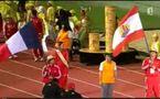 Délégation de Tahiti lors de l'Ouverture des XIV émes JEUX du PACIFIQUE 2011 NC