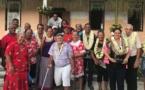 Edouard Fritch en visite à Kauehi et Fakarava