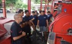 Des cadets de la sécurité civile découvrent le métier de sapeur-pompier
