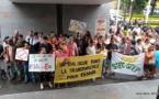 Une centaine d'enseignants du privé en grève ce jeudi