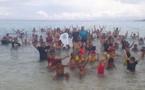 Changement climatique : les pieds dans l'eau pour interpeller