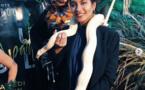 Vaimalama Chaves, Miss France 2019, porte autour du cou... un serpent