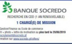 La Socredo recrute son ou sa chargé(e) de mission