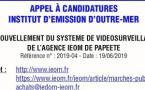 Appel à candidatures de l'institut d'Emission d'Outre-Mer
