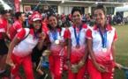 Les golfeuses tahitiennes en bronze