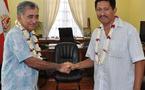 CESC: Visite protocolaire au Président Oscar Temaru