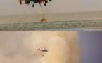 Les hauteurs de Paea en proie à un incendie
