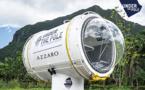 Under The Pole III présente sa capsule sous-marine à Moorea