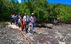 Sargasses: en Guadeloupe, Philippe met l'accent sur la lutte internationale