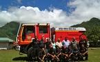 Moorea reçoit un nouveau camion de pompiers