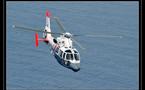 L'hélicoptère Dauphin effectue des exercices nocturnes deux fois par semaine