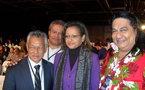 Des élus polynésiens au meeting de Sarkozy à Villepinte