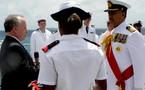 Décoration française pour un officier tongien