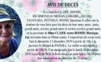 AVIS DE DECES - FAMILLE CLARK - BOOSIE