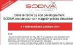 DANS LE CADRE DE SON DEVELOPPEMENT, SODIVA RECRUTE UN RESPONSABLE MAGASIN (H/F)
